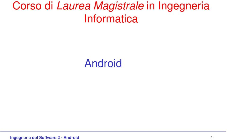 Informatica Android