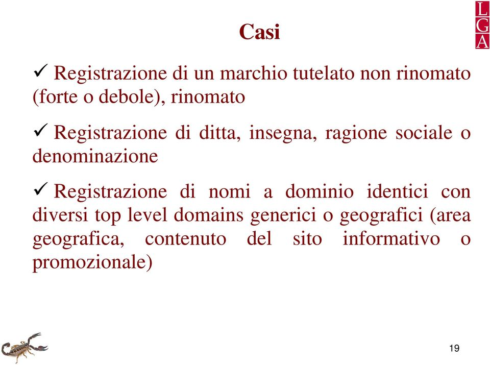 Registrazione di nomi a dominio identici con diversi top level domains