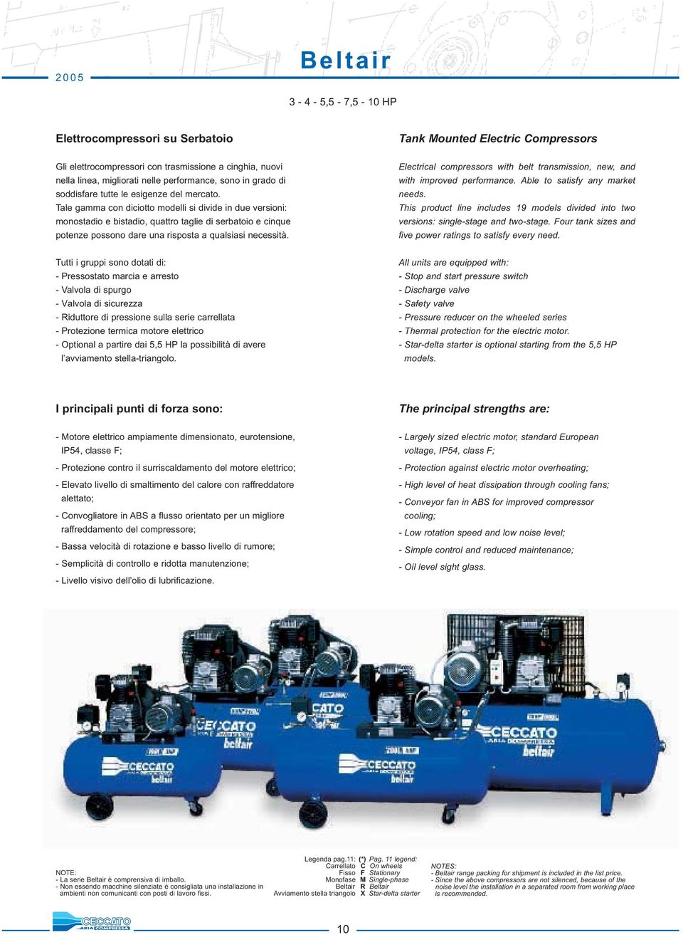 Tank Mounted Electric Compressors Electrical compressors with belt transmission, new, and with improved performance. Able to satisfy any market needs.