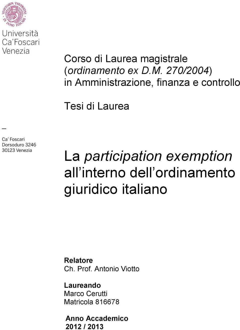 participation exemption all interno dell ordinamento giuridico italiano