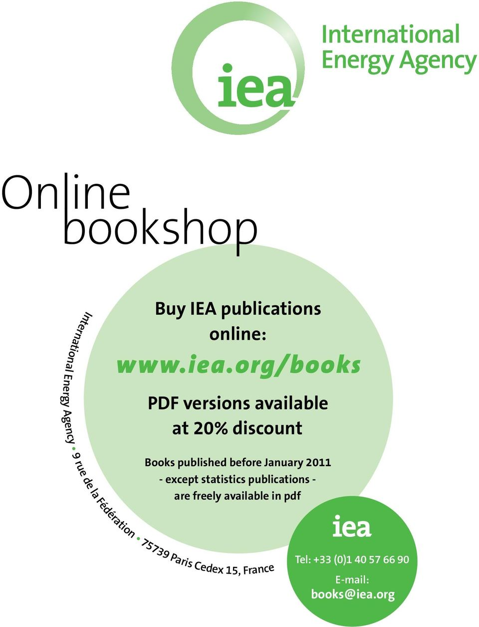 15, France PDF versions available at 20% discount Books published before January