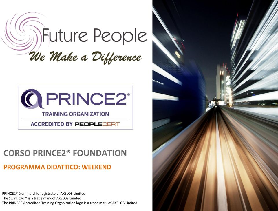 AXELOS Limited The PRINCE2 Accredited Training