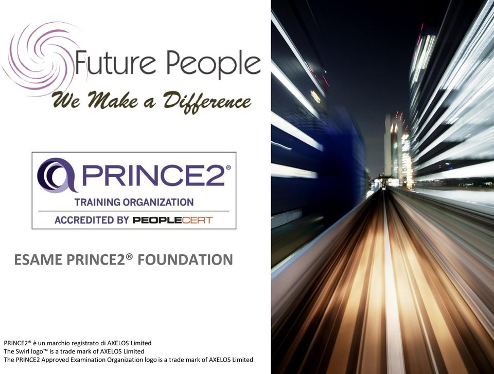 PRINCE2 Approved Examination