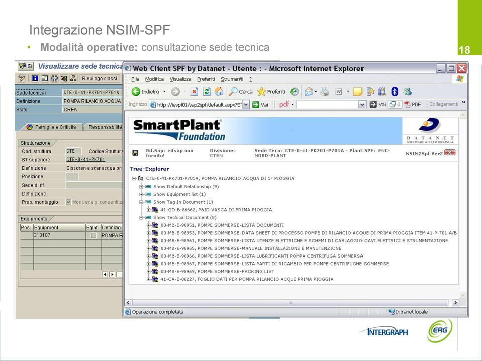 NSIM2SPF Web interface Consultazione sede