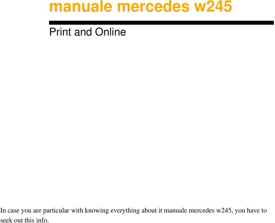 knowing everything about it manuale