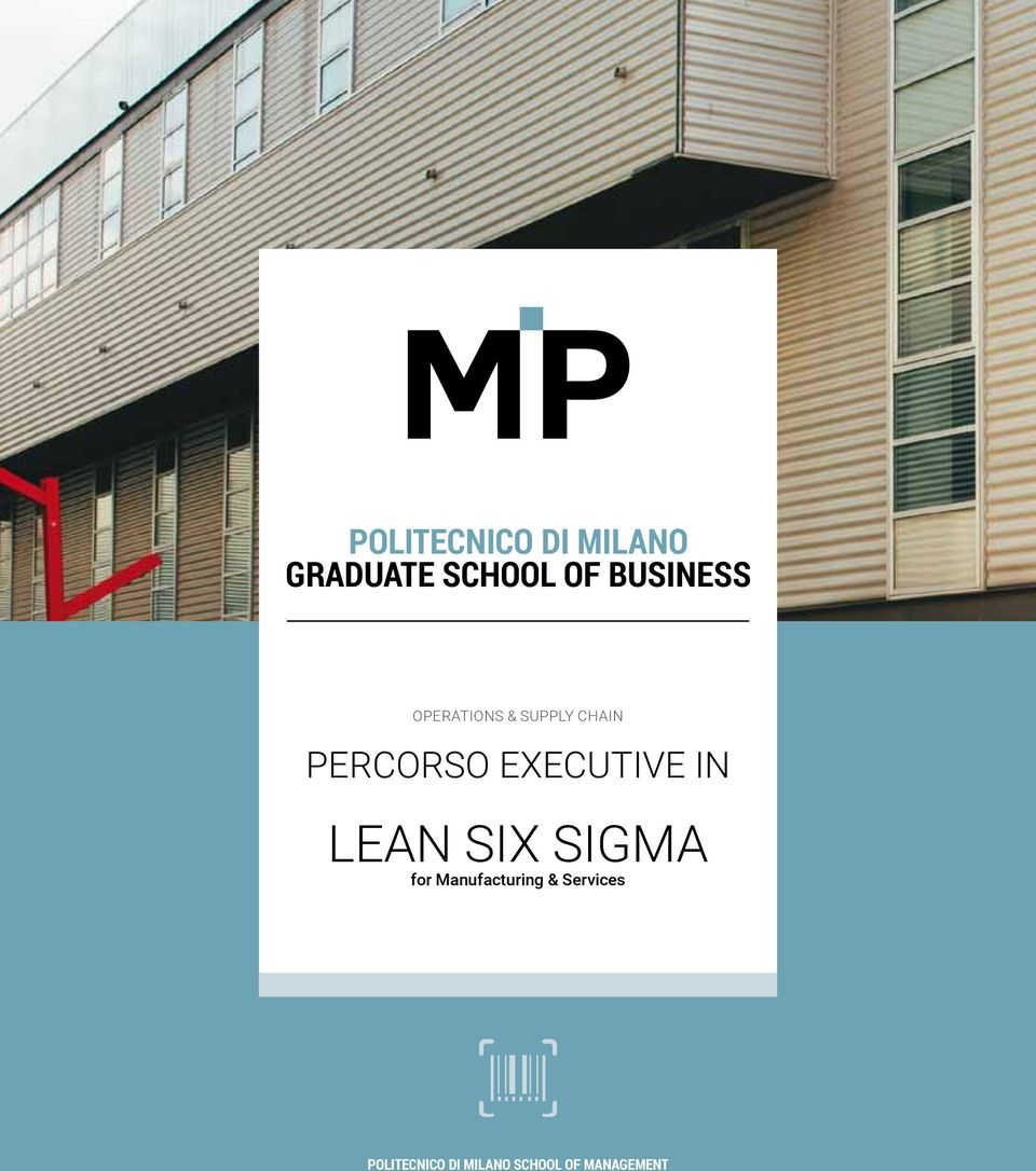 EXECUTIVE IN LEAN SIX SIGMA for Manufacturing