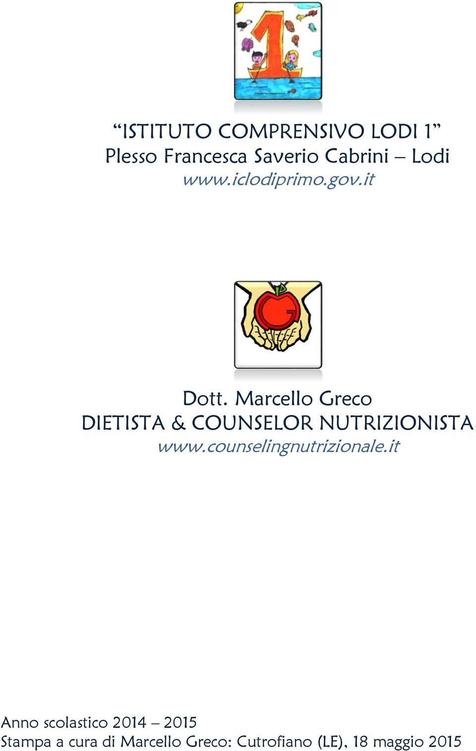 DIETISTA & COUNSELOR NUTRIZIONISTA www.