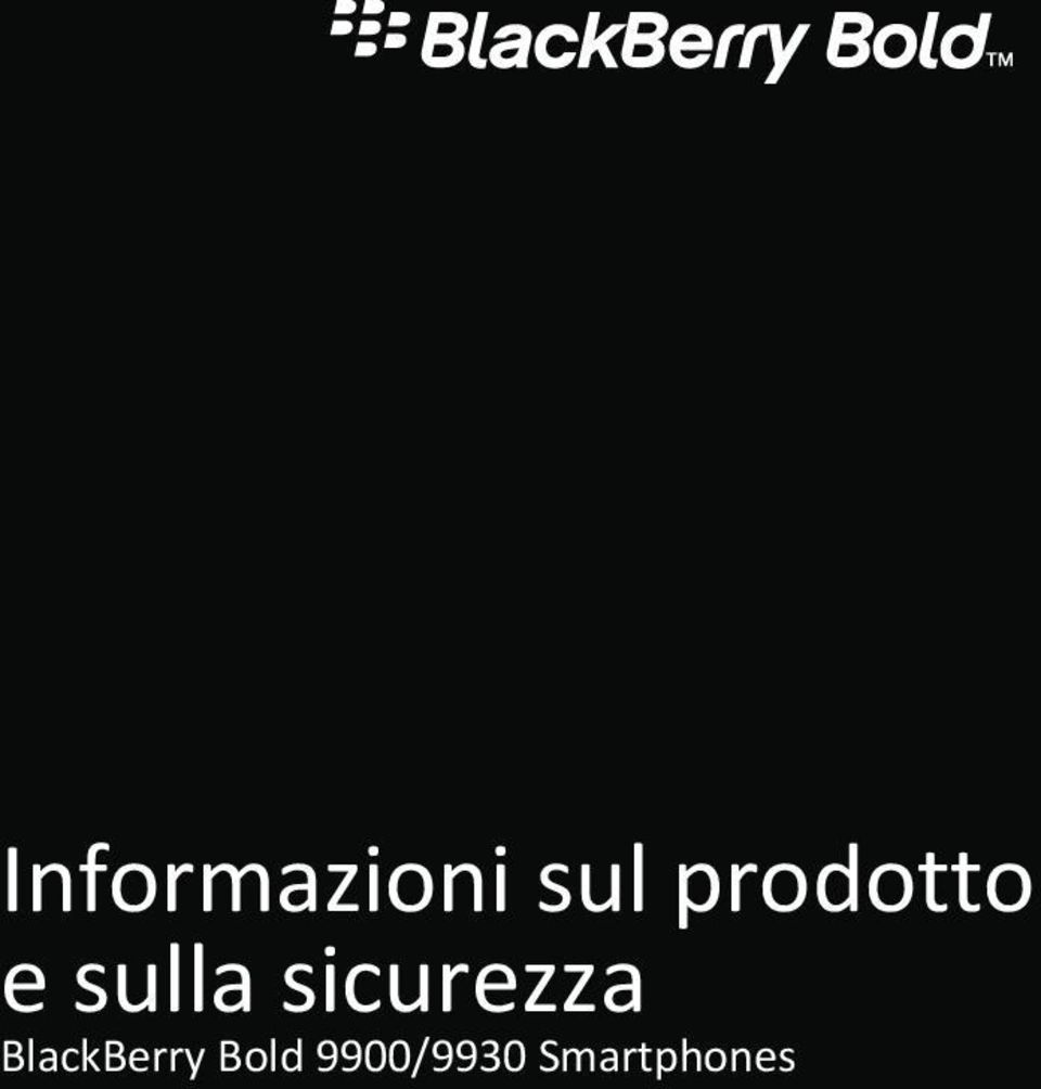 sicurezza BlackBerry