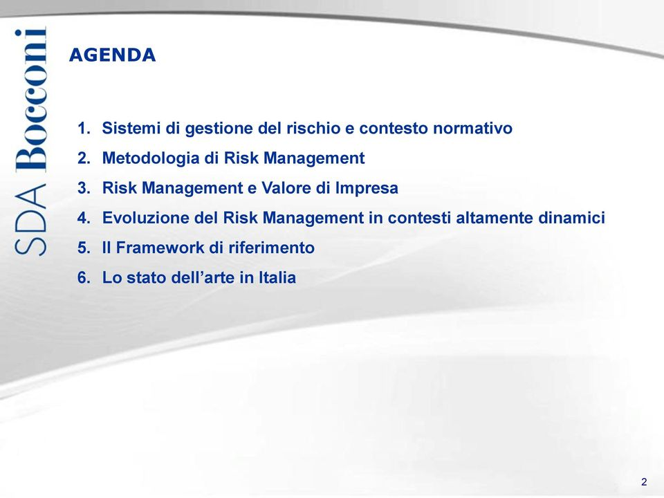 Risk Management e Valore di Impresa 4.