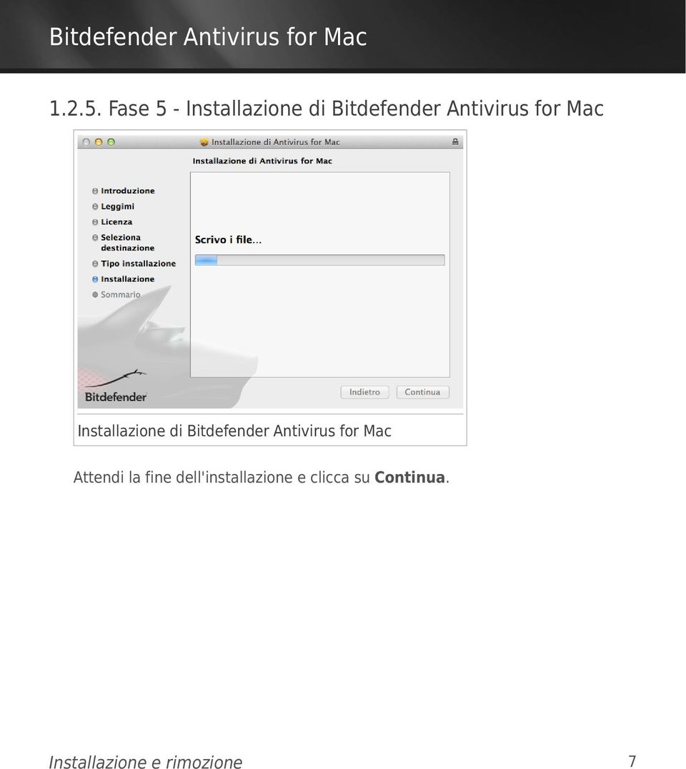 for Mac Installazione di Bitdefender Antivirus