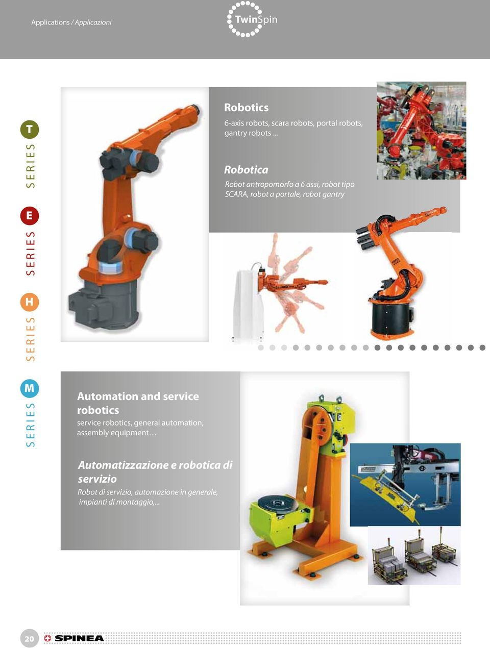 Automation and service robotics service robotics, general automation, assembly equipment