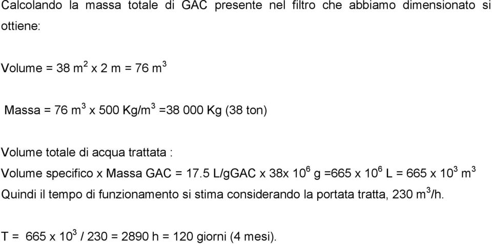 trattata : Volume specifico x assa 7.