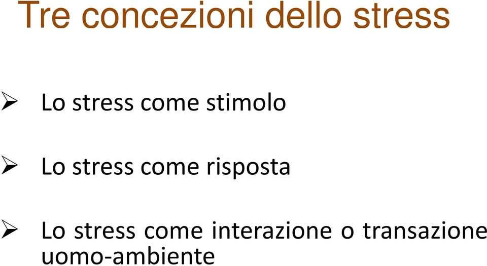 come risposta Lo stress come