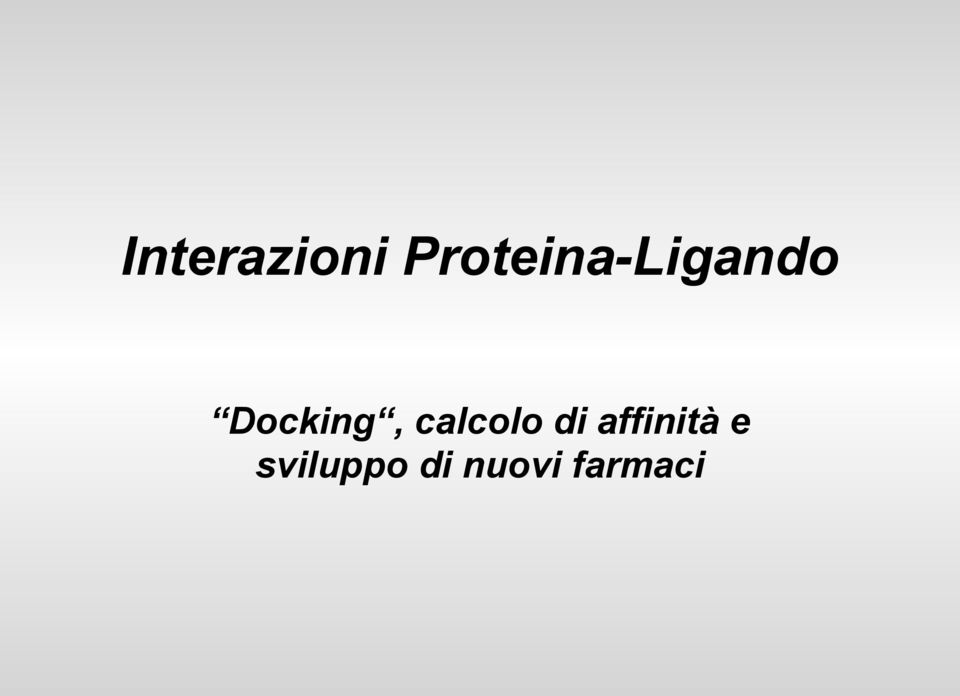 Docking, calcolo di