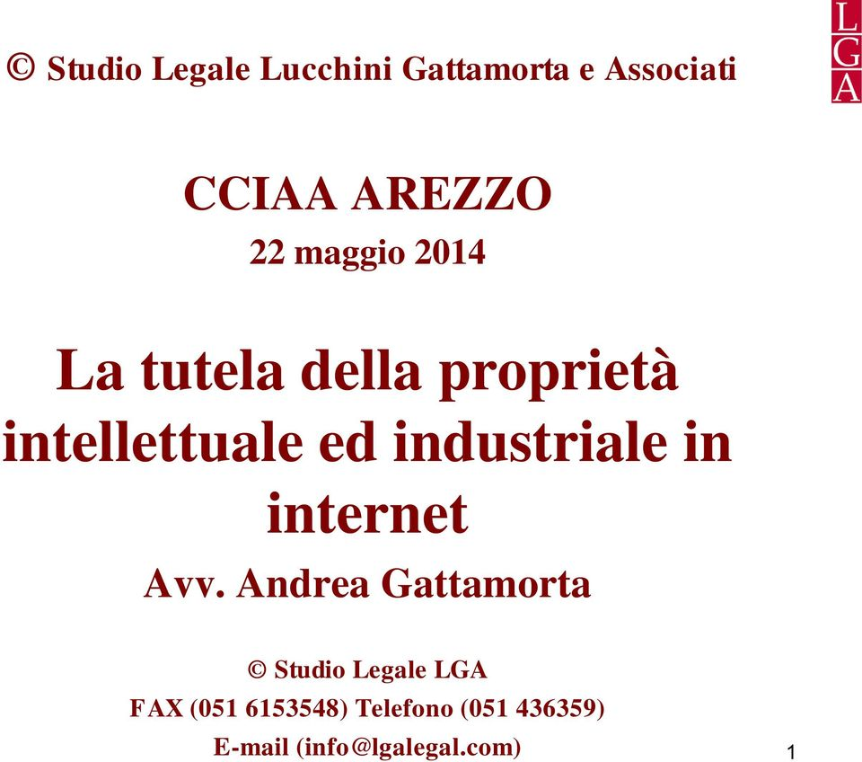 industriale in internet Avv.