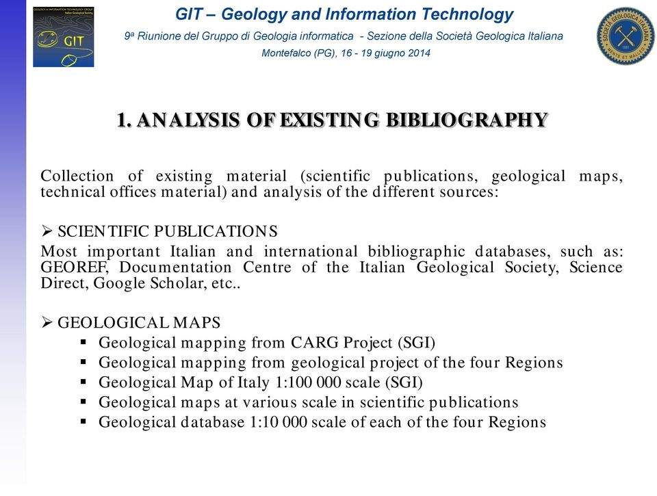 Geological Society, Science Direct, Google Scholar, etc.