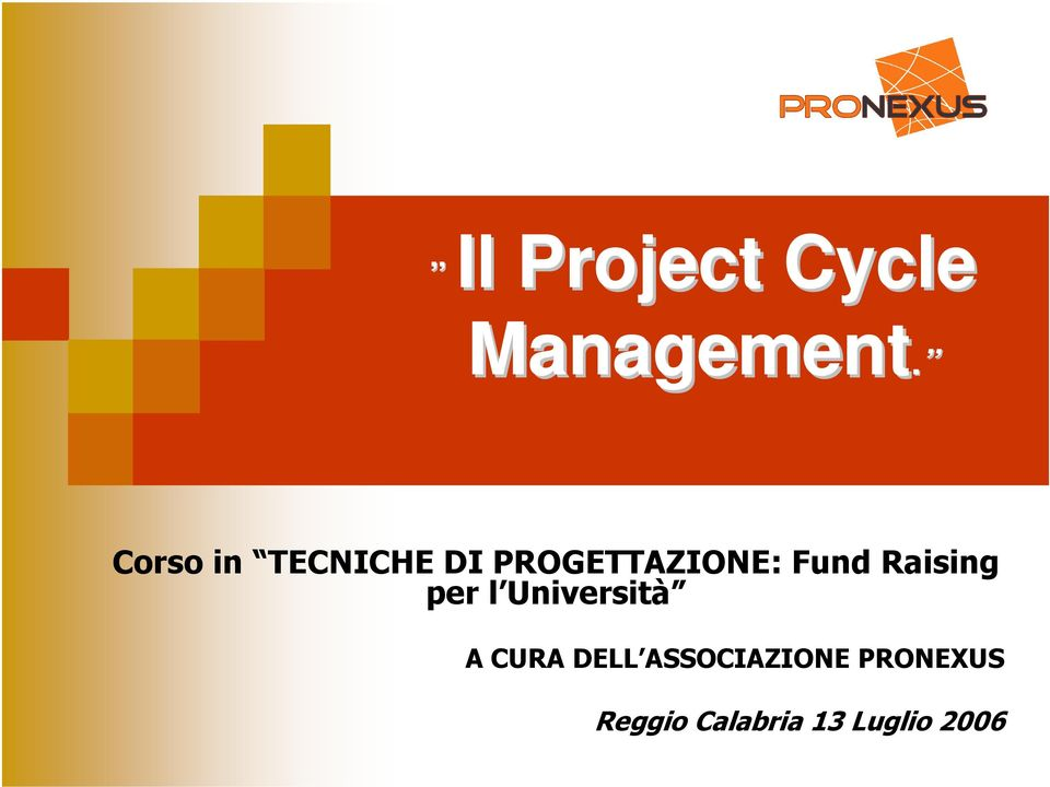 Fund Raising per l Università A CURA