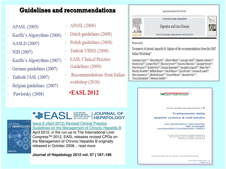 2012, EASL releases revised CPGs on the Management of Chronic Hepatitis B