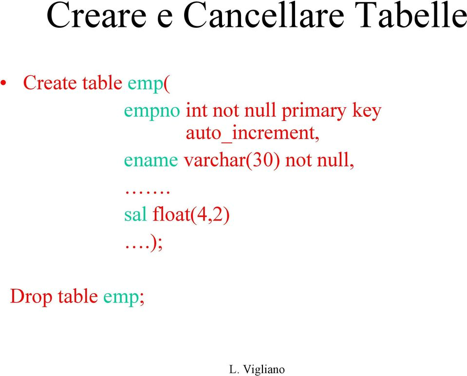 key auto_increment, ename varchar(30)