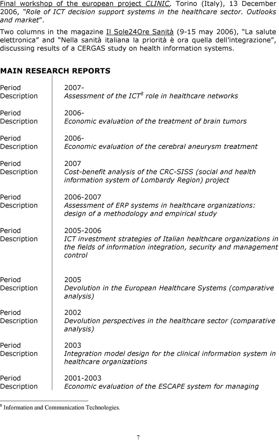 health information systems.