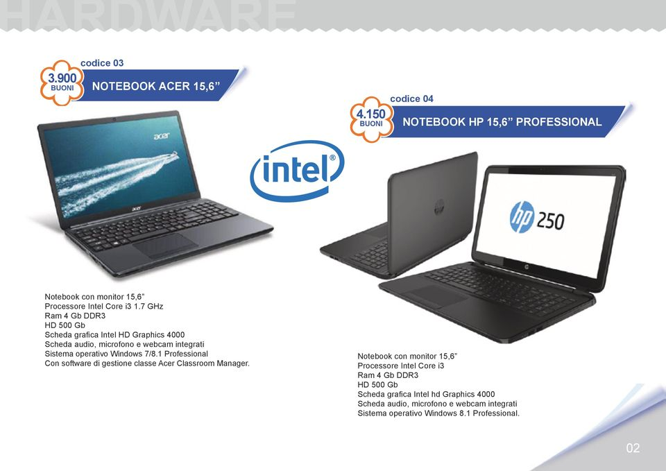7/8.1 Professional Con software di gestione classe Acer Classroom Manager.