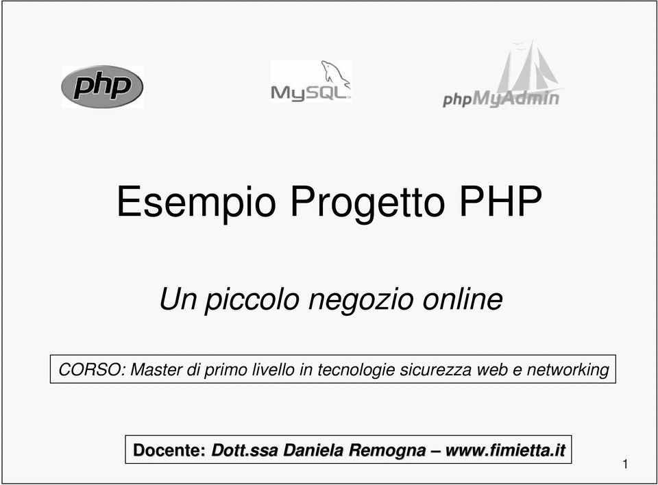 tecnologie sicurezza web e networking