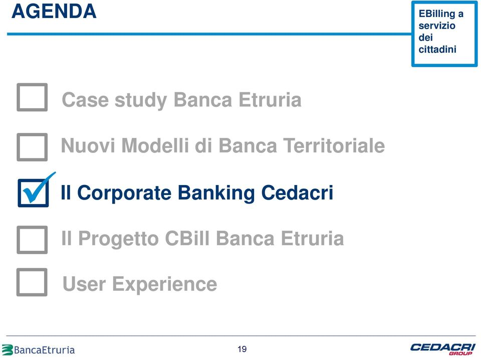 di Banca Territoriale Il Corporate Banking
