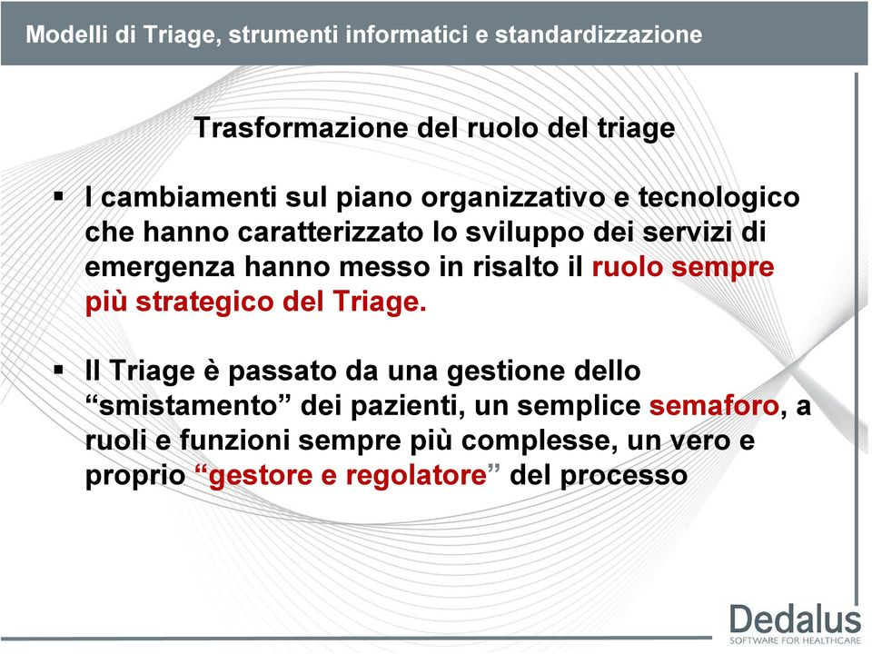 strategico del Triage.
