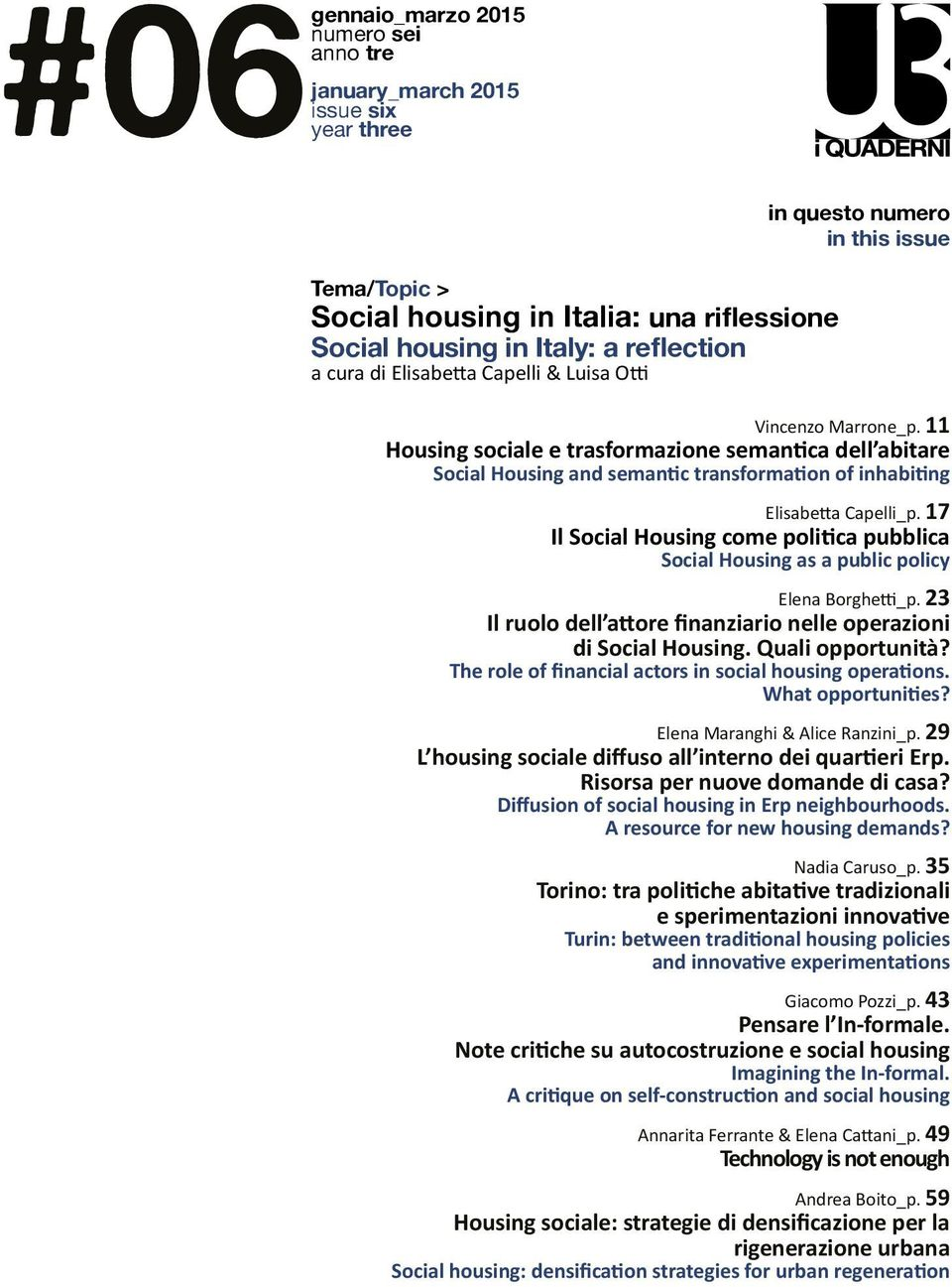 11 Housing sociale e trasformazione semantica dell abitare Social Housing and semantic transformation of inhabiting Elisabetta Capelli_p.