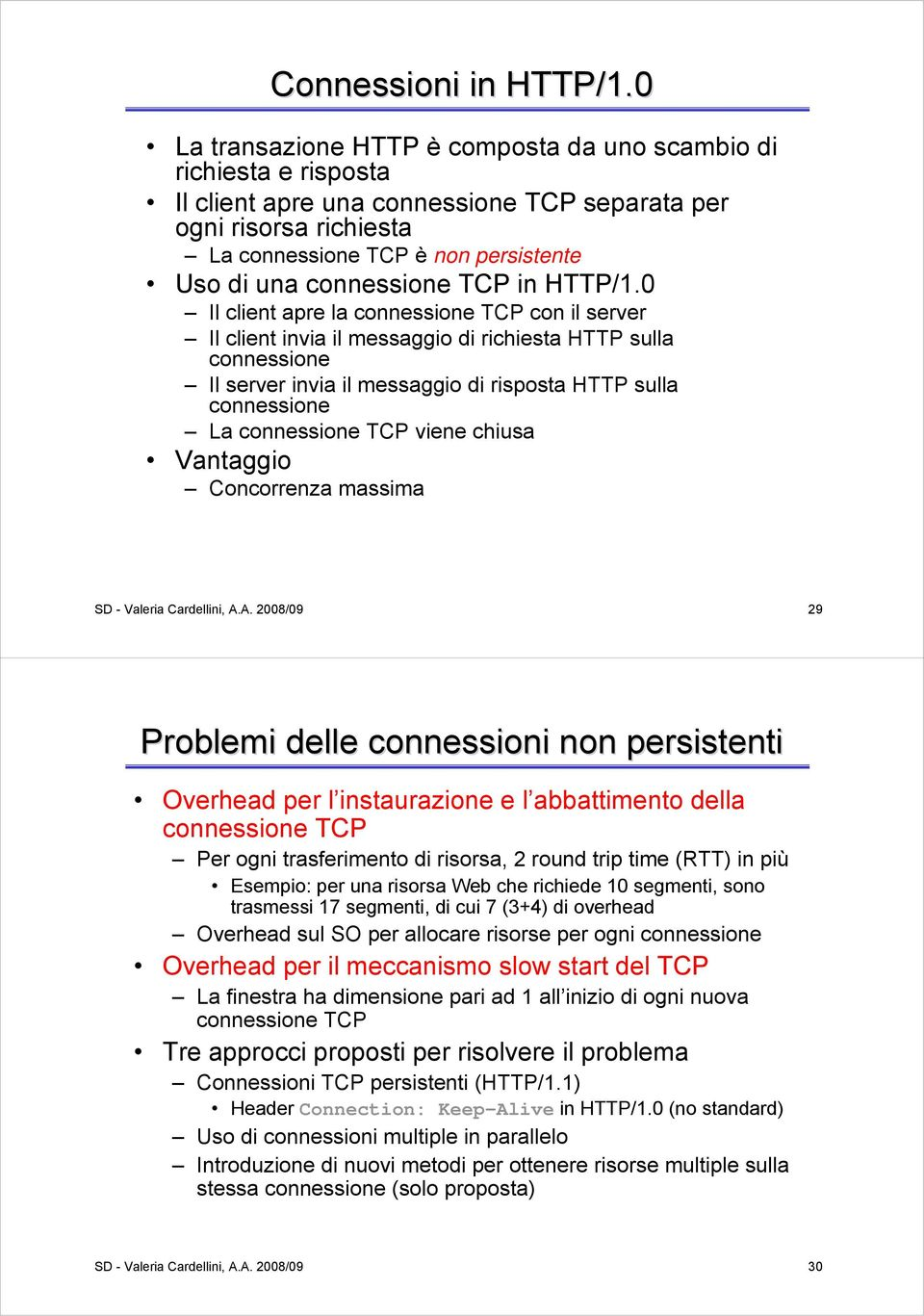 connessione TCP in HTTP/1.