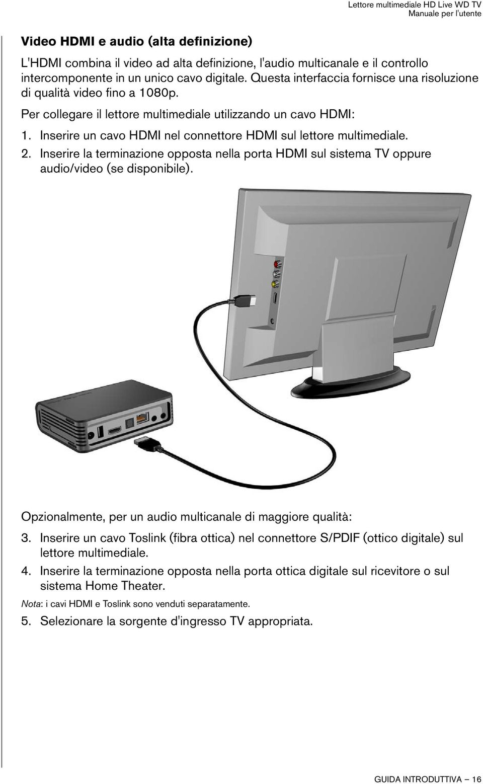 Lettore Multimediale Hd Live Wd Tv Pdf