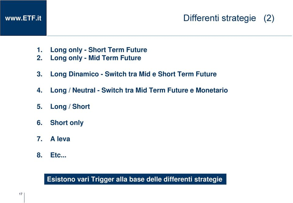 Long Dinamico - Switch tra Mid e Short Term Future 4.
