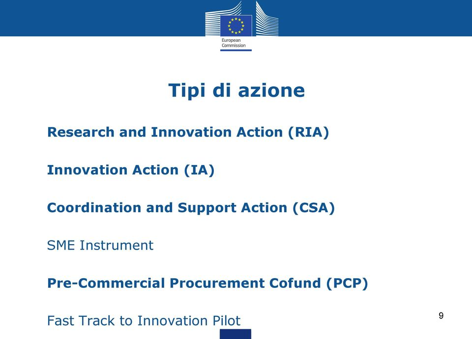 Support Action (CSA) SME Instrument