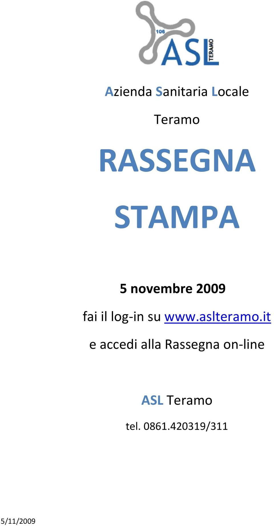 log-in su www.aslteramo.