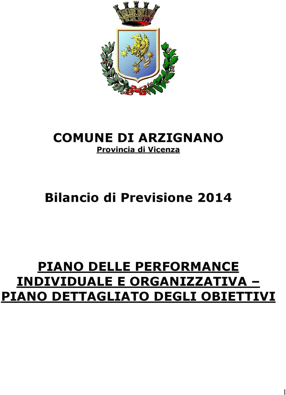 PIANO DELLE PERFORMANCE INDIVIDUALE E