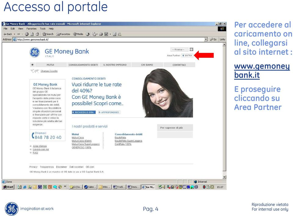 sito internet : www.gemoney bank.