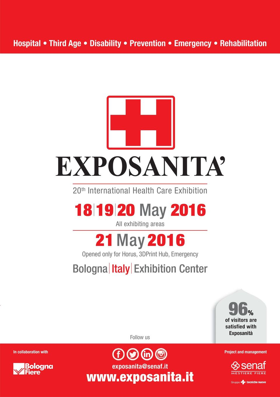 3DPrint Hub, Emergency Bologna Italy Exhibition Center Follow us 96% of visitors are