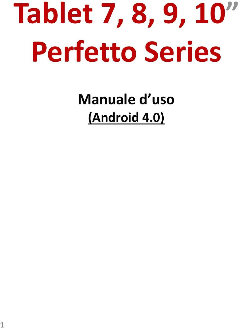 Series Manuale