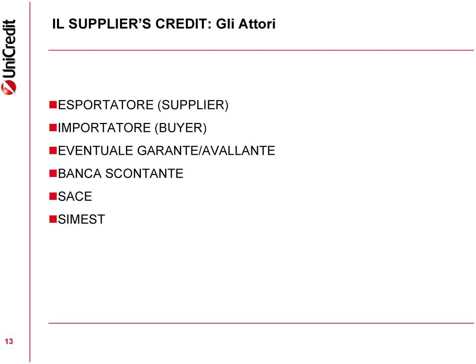 IMPORTATORE (BUYER) EVENTUALE