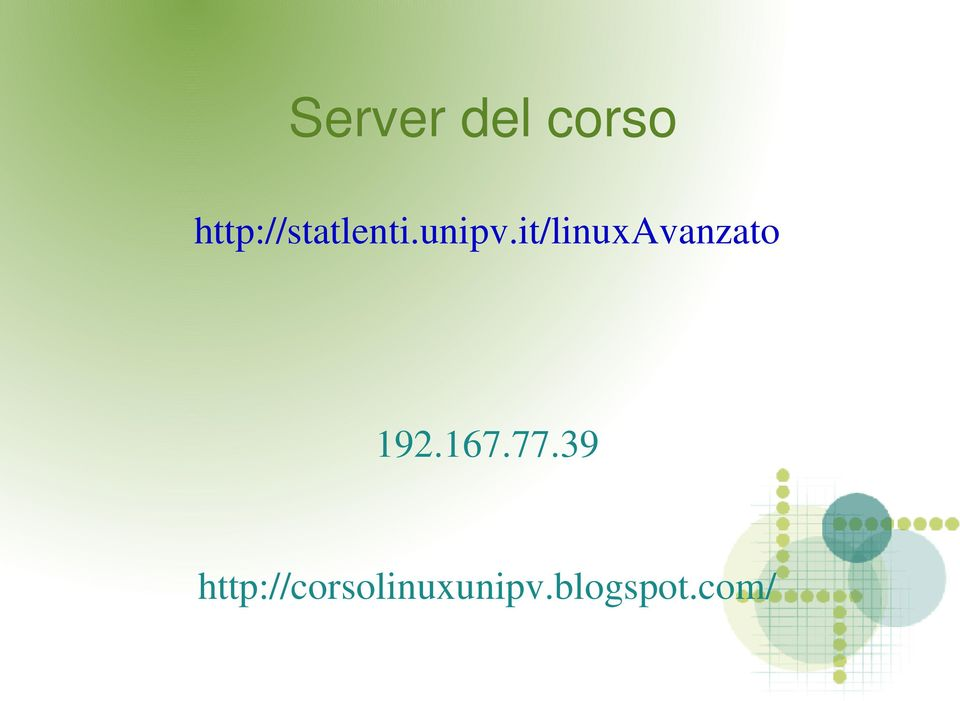 it/linuxavanzato 192.167.