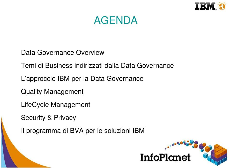 IBM per la Data Governance Quality Management LifeCycle