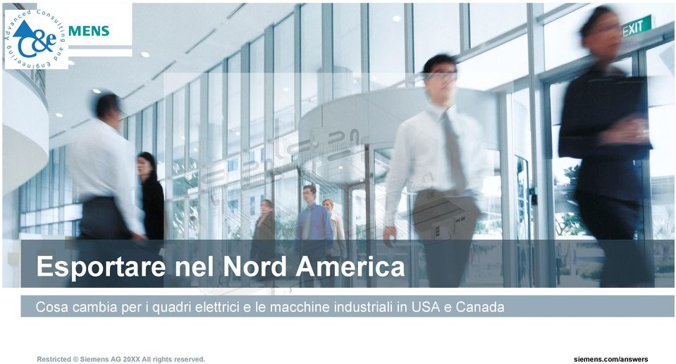 industriali in USA e Canada Restricted