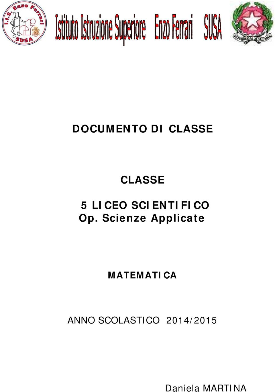 Scienze Applicate MATEMATICA