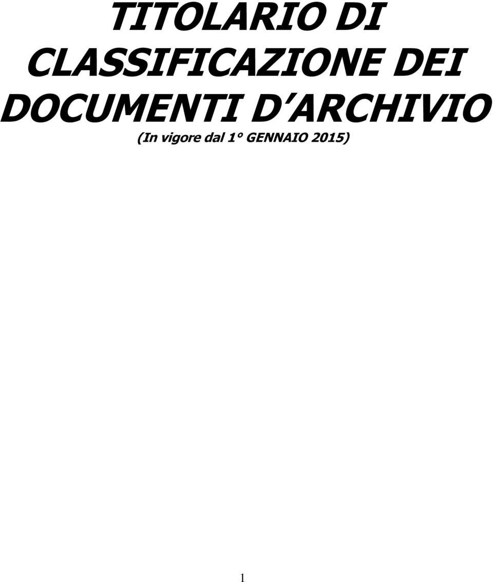 DOCUMENTI D ARCHIVIO