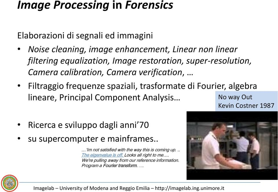 Principal Component Analysis Ricerca e sviluppo dagli anni 70 su supercomputer e mainframes.. Im not satisfied with the way this is coming up.