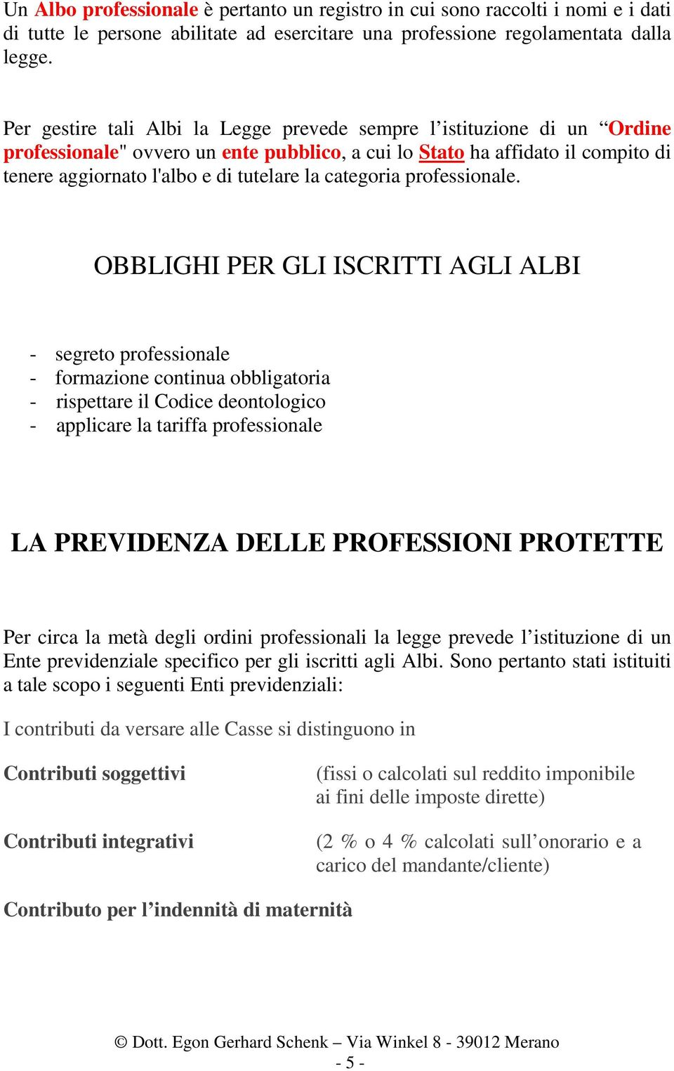 categoria professionale.
