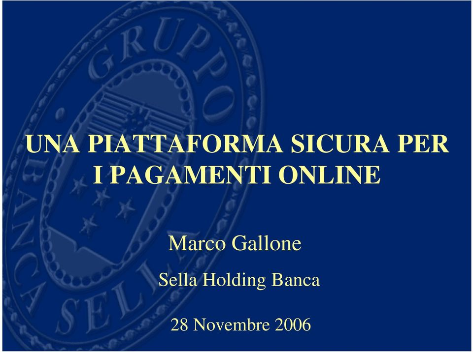 Marco Gallone Sella