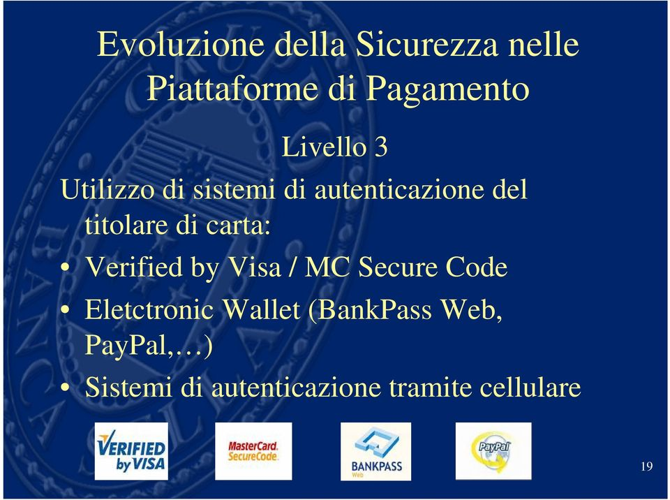 carta: Verified by Visa / MC Secure Code Eletctronic Wallet