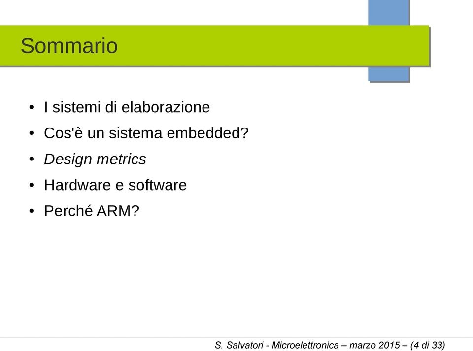 Design metrics Hardware e software