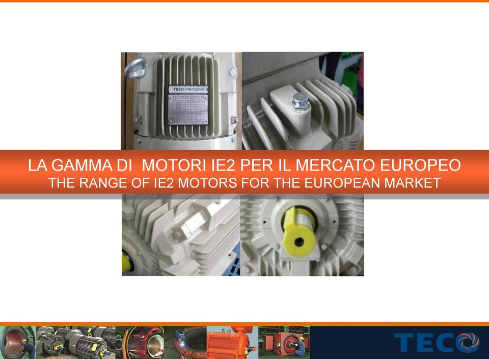 THE RANGE OF IE2 MOTORS